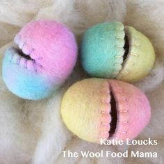Wool felted eggs 2018