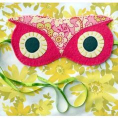 I have to make this!! OWL sleeping mask tutorial.