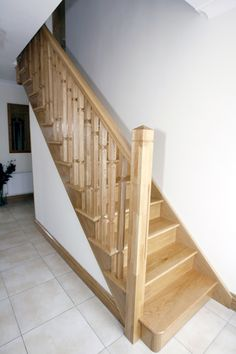 Wooden Stairs and Railing