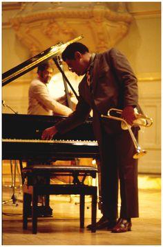 """kmonk: """" Dizzy Gillespie 1973 in Musikhalle Hamburg Photo Heinrich Klaff """""""