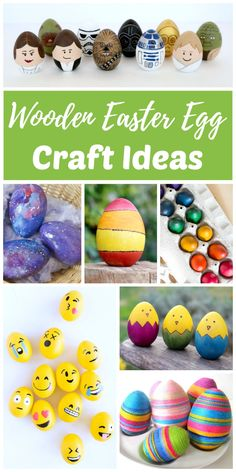 DIY wooden egg craft