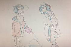 Aaawww mankanshoku y matoi Animation, Art Sketches, Art Drawings, Kill A Kill, Ichigo Y Rukia, Naruto Fan Art, Kawaii Art, Art Reference Poses, Mural Art