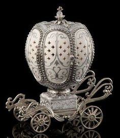 Faberge Egg, Silver Carriage