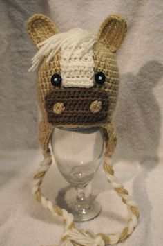 Sweet little horse by AllAboutNoggins on Etsy, $30.00