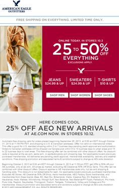 a77f74e8971b41 Pinned October Everything is off at Eagle Outfitters