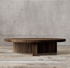 Reclaimed Russian Oak Plank Round Coffee Table (Reclaimed Brown Oak, Reclaimed Grey Oak)