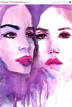 Just Because Sale The Mirror Has Two Faces by by ArtbyJessBuhman, $21.25