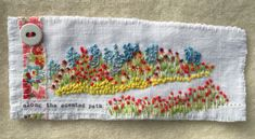 Handmade in Cornwall by M Stephens Artist Hand embroidery