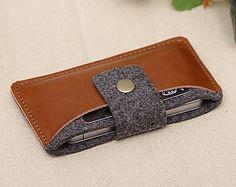 Feutre cuir manches de poche iPhone, iPhone, iPhone couverture, cas d'iphone4s, l'iPhone 5 manches, plaqué or 18k bouton magnétique 543