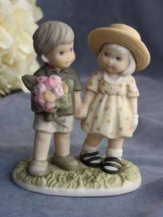 "Kim Anderson's Pretty as a Picture � ""Love Never Ends"" Wedding Cake Topper Figurine"