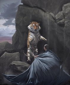 Joel Rea Portrays Natural Beauty and Danger in New Paintings   Hi-Fructose Magazine