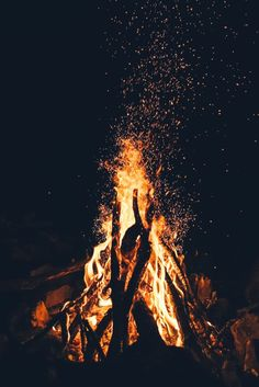 """The most powerful weapon on earth is the human soul on fire."" - Ferdinand Foch 🔥⚡️ What sets your soul on fire? Fire Photography, Camping Photography, Wallpaper Backgrounds, Iphone Wallpaper, Nike Wallpaper, Campfire Fun, Photo D Art, Night Aesthetic, Cold Night"