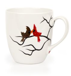 Cardinal Mug project from DecoArt