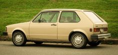 80s beige Volkswagen rabbit. ..every girl's dream car
