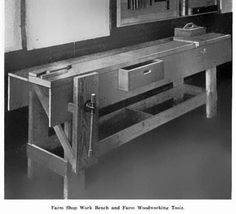 The Wood Knack: Unusual Early Century Farm Leg Vise Woodworking Bench Plans, Woodworking Guide, Custom Woodworking, Teds Woodworking, Carpenter Work, Tool Bench, Furniture Plans, Workbench Ideas, Work Benches