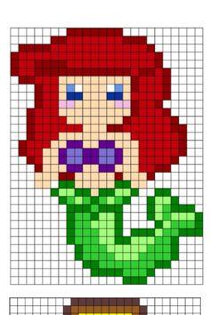 Princess knitting chart : ariel