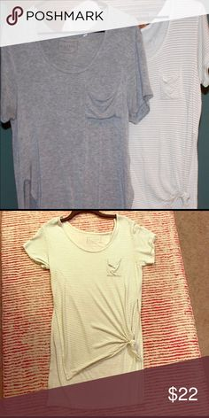 PAC SUN tshirt bundle Lightweight casual tshirts, great condition, perfect with leggings, striped shirt ties in the front. PacSun Tops Tees - Short Sleeve