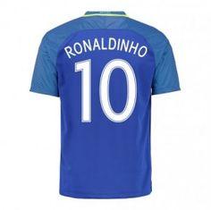 2016 Brazil National Team Ronaldinho 10 Away Soccer Jersey [D976]
