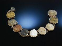 1860s lava cameo bracelet, probably souvenir from the Grand Tour.