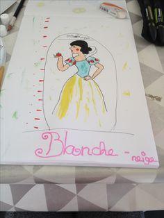 Blanche Neige Aquarelle  Fait par ma fille Kiara
