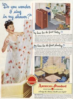 Do you love #vintage ads like this one from American Standard Plumbing! Check out this site for even more!