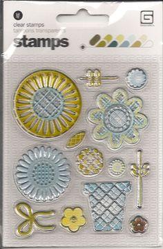 Basic Grey Clear Acrylic Stamp Set    NEW  Planting by sagebrush12, $5.00
