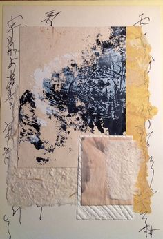 Casein, ink, recycled papers from Salon de Refuse studio. Artist Rita McNamara