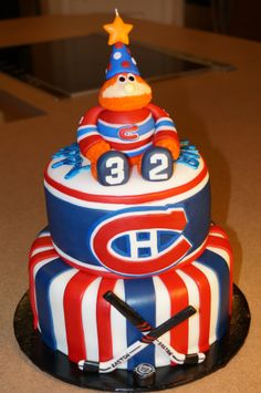 - Montreal Canadiens birthday cake.