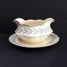 Gravy Boat W S George China Serving Bowl Sauce Bowls Gravy Bowl Floral Gravy Boat Gravy Server Attached Underplate 40s China Tulips Bowl