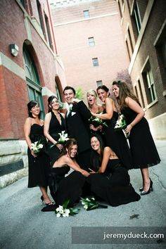 36                     groom with bridesmaids