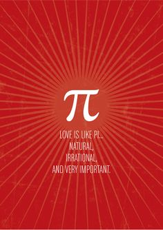 Love is like Pi. Happy #valentinesday !