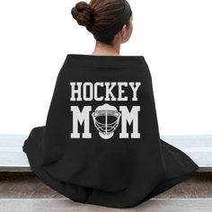Hockey Mom Bleacher Blanket | For all of you supportive moms out there... we know watching your goalie or your forward or your defenseman out there on the ice is fun and exciting, but it can also get cold! Wrap up in this hockey mom blanket so that you can keep warm while you are cheering on your player!