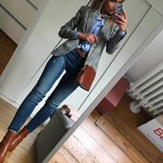 99 Fashionable Office Outfits and Work Attire for Women to Look Chic and Stylish Casual Work Outfits, Blazer Outfits, Business Casual Outfits, Mode Outfits, Office Outfits, Work Attire, Work Casual, Casual Chic, Fall Outfits