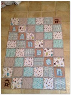 Baby quilts are good present given to your greatest buddies or family who simply have a baby new child. The quilt hav Easy Quilts, Children's Quilts, Cot Quilt, Flannel Quilts, Blue Quilts, Baby Sewing, Baby Quilts For Boys, Baby Quilts To Make, Baby Rag Quilts