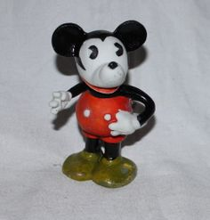 """5"""" Mickey Mouse bisque toothbrush holder (1930's)"""