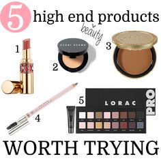 5 High End Beauty Products Worth Trying. On my beauty wish list!