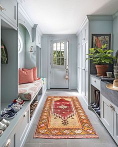 I'm not sure I would ever leave my mudroom. Isn't it beautiful? Design: I'm not sure I would ever leave my mudroom. Isn't it beautiful? Decor, House Design, Room, Mudroom, Pantry Inspiration, Interior, Home, Mudroom Design, Interior Design