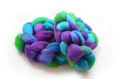 Hydrangea  Falkland Wool Roving  Hand dyed by FoxandFlowerYarn