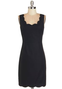 Slip into Sleekness Dress. Its easy to feel your best when your frame is zipped into this black sheath dress for a pre-party fashion show in your bedroom! #black #modcloth