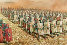 Roman Legion Marching into Gaul Ancient Rome, Ancient Greece, Ancient History, Ancient Aliens, Roman History, European History, American History, Military Art, Military History