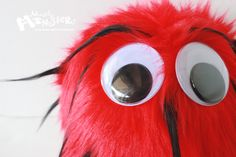 Fuzzy Monster Toy, Fuzzball, Fuzzie Monster Ball, Red Spike Monster Plushie, Toy Monster Ball, fuzzy furry friendly, Handmade Monster, red by MostlyMonstersCV on Etsy