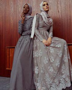 "islamic-fashion-inayah: ""New arrivals - Grey Flo. Islamic Fashion, Muslim Fashion, Modest Fashion, Fashion Outfits, Abaya Designs, Muslim Prom Dress, Muslim Wedding Dresses, Muslimah Clothing, Modest Clothing"