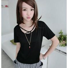 Buy '59 Seconds – Short-Sleeve Cross Strap Detail T-Shirt' with Free International Shipping at YesStyle.com. Browse and shop for thousands of Asian fashion items from Hong Kong and more!