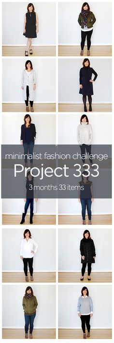 """One of my first challenges in minimalism and my """"gateway drug"""" - I still have a very small wardrobe and challenge many of my friends to do Project 333!"""