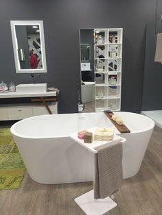 A small side table for the bathtub! – Decoist A small side table for the bathtub! Diy Bathroom Decor, Bathroom Layout, Bathroom Colors, Bathroom Ideas, Bathroom Plants, Bathroom Organization, Bathroom Interior, Bathroom Mirror With Shelf, Bathroom Shelves For Towels