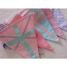 Pink Union Jack Bunting etsy.com Perfect for little girl's room