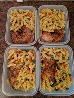 Healthy lunch meal prep - One roasted chicken four meals Pasta with seasoned veg mix for garnish Lunch Meal Prep, Meal Prep Bowls, Healthy Meal Prep, Easy Meal Prep, Easy Meals, Healthy Eating, Vegetarian Meal, Keto Meal, Clean Eating