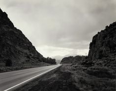 """Mark Ruwedel, Devil's Gate #6, 1997 8 x 10 inch gelatin silver print mounted to 16 x 20"""" archival board, with graphite lettering. Courtesy of Gallery luisotti."""