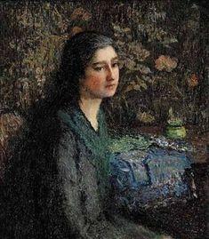 Italian Girl, 1921 Painting by Helen M. Turner American Impressionist Artist