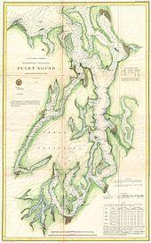 This US Coast Survey Map Shows The Kitsap Peninsula Where - Us map 1867